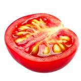 Ντομάτα κερασιών μισή, πορείες στοκ εικόνες με δικαίωμα ελεύθερης χρήσης