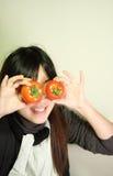 ντομάτα κοριτσιών μόδας Στοκ Εικόνες