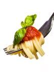 ντομάτα μακαρονιών σάλτσας δικράνων Στοκ Εικόνα