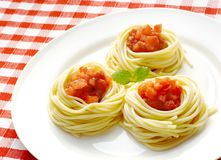 ντομάτα μακαρονιών σάλτσας στοκ φωτογραφία με δικαίωμα ελεύθερης χρήσης