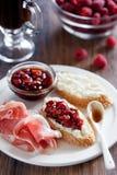 ντομάτα μαρμελάδας crostini Στοκ εικόνα με δικαίωμα ελεύθερης χρήσης