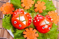 ντομάτα μαρουλιού λαμπριτσών μορφής Στοκ Φωτογραφίες