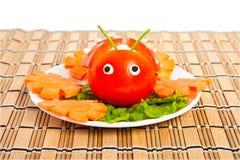 ντομάτα μαρουλιού λαμπριτσών μορφής Στοκ Εικόνες
