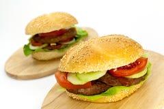 ντομάτα μαρουλιού χάμπου&rh Στοκ εικόνες με δικαίωμα ελεύθερης χρήσης