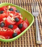 ντομάτα μαρουλιού Στοκ Φωτογραφία