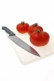 ντομάτα μαχαιριών Στοκ Εικόνα