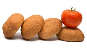 Ντομάτα με το ψωμί Στοκ φωτογραφία με δικαίωμα ελεύθερης χρήσης