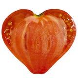 Ντομάτα μορφής καρδιών Στοκ Εικόνα