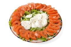 ντομάτα μοτσαρελών τυριών Στοκ Εικόνα