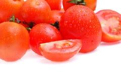 Ντομάτα που απομονώνεται στην άσπρη ανασκόπηση Στοκ φωτογραφίες με δικαίωμα ελεύθερης χρήσης
