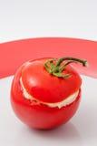 Ντομάτα που γεμίζεται με τη μαγιονέζα Στοκ Εικόνα
