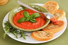 ντομάτα σάλτσας βασιλικ&om Στοκ εικόνα με δικαίωμα ελεύθερης χρήσης
