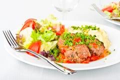 ντομάτα σάλτσας κεφτών Στοκ Φωτογραφίες