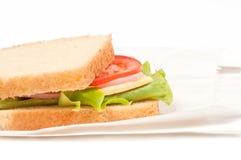 Ντομάτα, σάντουιτς σαλαμιού Στοκ φωτογραφίες με δικαίωμα ελεύθερης χρήσης