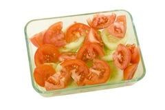ντομάτα σαλάτας αγγουρι Στοκ εικόνες με δικαίωμα ελεύθερης χρήσης