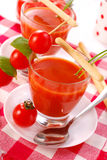 ντομάτα σούπας γυαλιού Στοκ Εικόνες