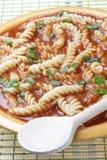 ντομάτα σούπας ζυμαρικών Στοκ Εικόνες