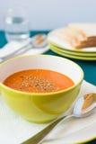 ντομάτα σούπας κύπελλων στοκ φωτογραφία με δικαίωμα ελεύθερης χρήσης