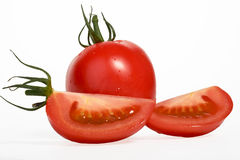Ντομάτα στο λευκό Στοκ φωτογραφία με δικαίωμα ελεύθερης χρήσης