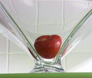 Ντομάτα στο πιάτο γυαλιού Στοκ Φωτογραφία
