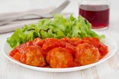 ντομάτα Τουρκία συρραφών κεφτών Στοκ εικόνα με δικαίωμα ελεύθερης χρήσης
