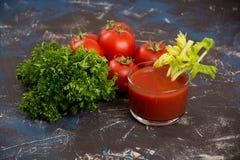 ντομάτα χυμού γυαλιού Στοκ Εικόνα