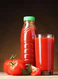 ντομάτα χυμού γυαλιού Στοκ Φωτογραφίες