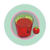 ντομάτα χυμού γυαλιού Στοκ εικόνα με δικαίωμα ελεύθερης χρήσης