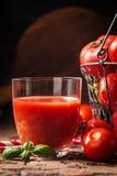 ντομάτα χυμού γυαλιού Στοκ εικόνες με δικαίωμα ελεύθερης χρήσης