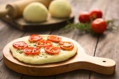 Ντομάτα Flatbread Στοκ Εικόνες