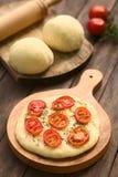 Ντομάτα Flatbread Στοκ φωτογραφίες με δικαίωμα ελεύθερης χρήσης