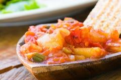 ντομάτα salsa πάπρικας Στοκ Εικόνες