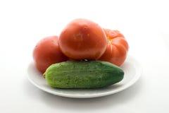 ντομάτες αγγουριών Στοκ φωτογραφία με δικαίωμα ελεύθερης χρήσης