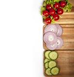 ντομάτες αγγουριών Στοκ Φωτογραφία