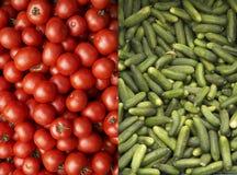 ντομάτες αγγουριών Στοκ φωτογραφίες με δικαίωμα ελεύθερης χρήσης