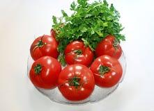 Ντομάτες και μαϊντανός λαχανικών διατροφής Στοκ εικόνα με δικαίωμα ελεύθερης χρήσης