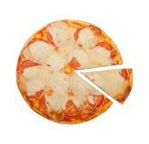 Ντομάτες και πίτσα τυριών Στοκ εικόνες με δικαίωμα ελεύθερης χρήσης