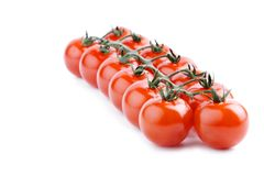 ντομάτες κερασιών δεσμών Στοκ Εικόνες