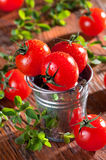 Ντομάτες κερασιών Στοκ φωτογραφία με δικαίωμα ελεύθερης χρήσης