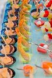 ντομάτες μοτσαρελών τροφίμων δάχτυλων κερασιών Στοκ Εικόνα