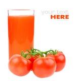 ντομάτες ντοματών χυμού Στοκ Φωτογραφία
