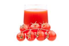 ντομάτες ντοματών χυμού Στοκ Εικόνες
