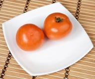 ντομάτες πιάτων Στοκ φωτογραφία με δικαίωμα ελεύθερης χρήσης