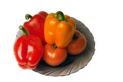 ντομάτες πιπεριών Στοκ φωτογραφία με δικαίωμα ελεύθερης χρήσης
