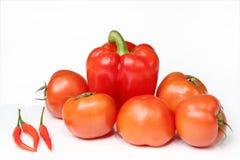 ντομάτες πιπεριών στοκ εικόνα με δικαίωμα ελεύθερης χρήσης