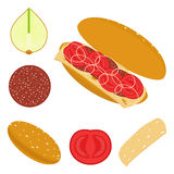 ντομάτες σάντουιτς Στοκ φωτογραφία με δικαίωμα ελεύθερης χρήσης