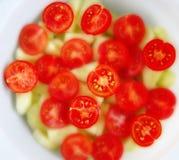 ντομάτες σαλάτας κερασιών Στοκ φωτογραφίες με δικαίωμα ελεύθερης χρήσης