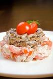 ντομάτες σαλάτας μανιταρ&i Στοκ φωτογραφία με δικαίωμα ελεύθερης χρήσης