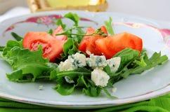 ντομάτες σαλάτας μπλε τυ Στοκ εικόνες με δικαίωμα ελεύθερης χρήσης