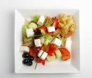 ντομάτες σαλάτας φέτας Στοκ Εικόνα
